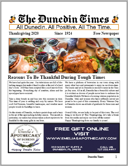 Thanksgiving Issue of The Dunedin Times