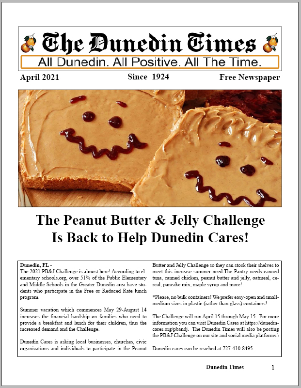 April 2021 Issue of The Dunedin Times