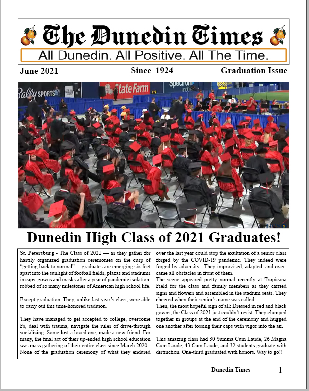 June Issue of The Dunedin Times